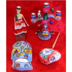 Lot of 4 - Mexican Day of the Dead Figures