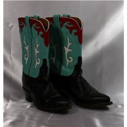 """Ladies """"Lucchese"""" Leather Cowboy Boots"""