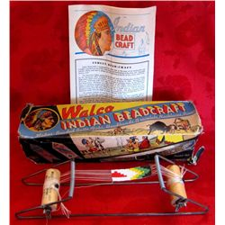 Original 1936 Walco Brand Indian Beadcraft in Box
