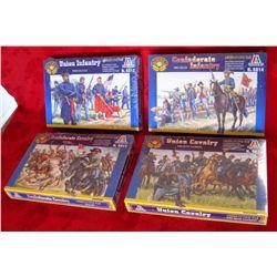 4 – Italeri 1:72 Civil War Soldiers * New in Box