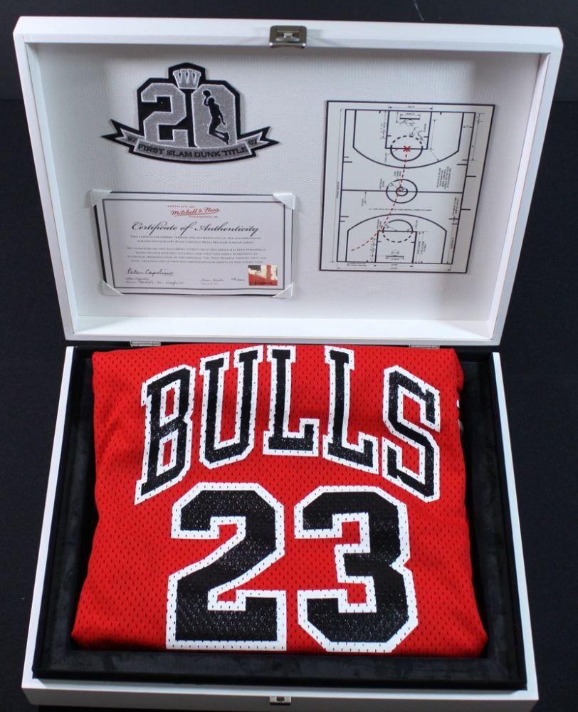 best website 02320 8c0d1 Mitchell & Ness Michael Jordan 1987 Slam Dunk Jersey: LE ...