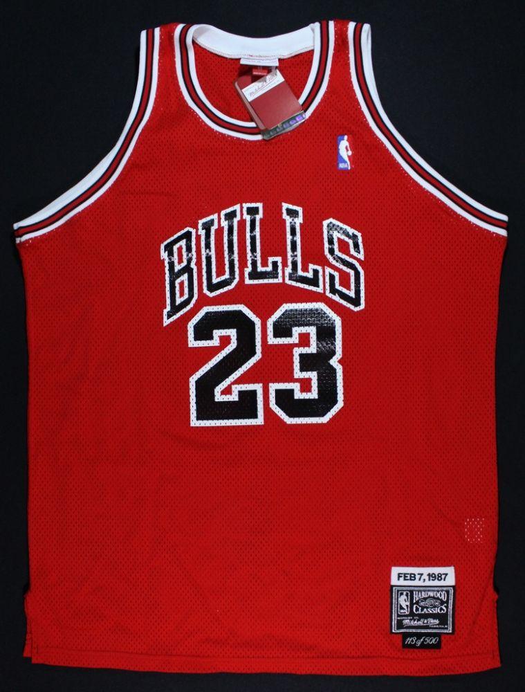 hot sale online 0c714 259b1 Mitchell & Ness Michael Jordan 1987 Slam Dunk Jersey: LE 113 ...