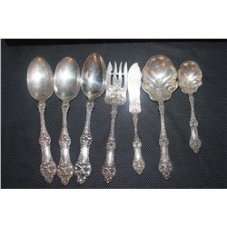 7 PIECES STERLING ORNATE 13.3 OZ.
