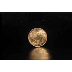 1922 SWISS 10 FR. GOLD COIN