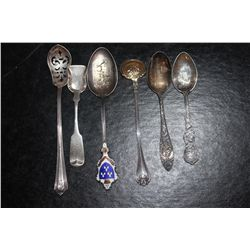 6 STERLING MISC. SPOONS - 2.3 OZ