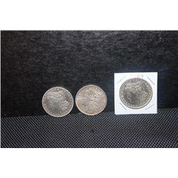3 MORGAN DOLLARS - 1879 - 1888 - 1889