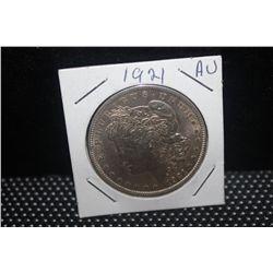 1921 MORGAN DOLLAR - AU