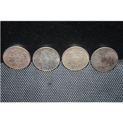 4 MORGAN DOLLARS - 1887 - 1886 - 1886 - 1888