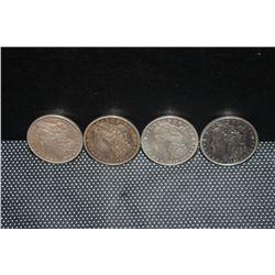 4 MORGAN DOLLARS - 1889 - 79 - 21D