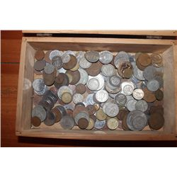 100'S OF FOREIGN COINS - SEVERAL SILVER
