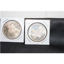 2 - 999 INGOT COINS - 1984 - 1990