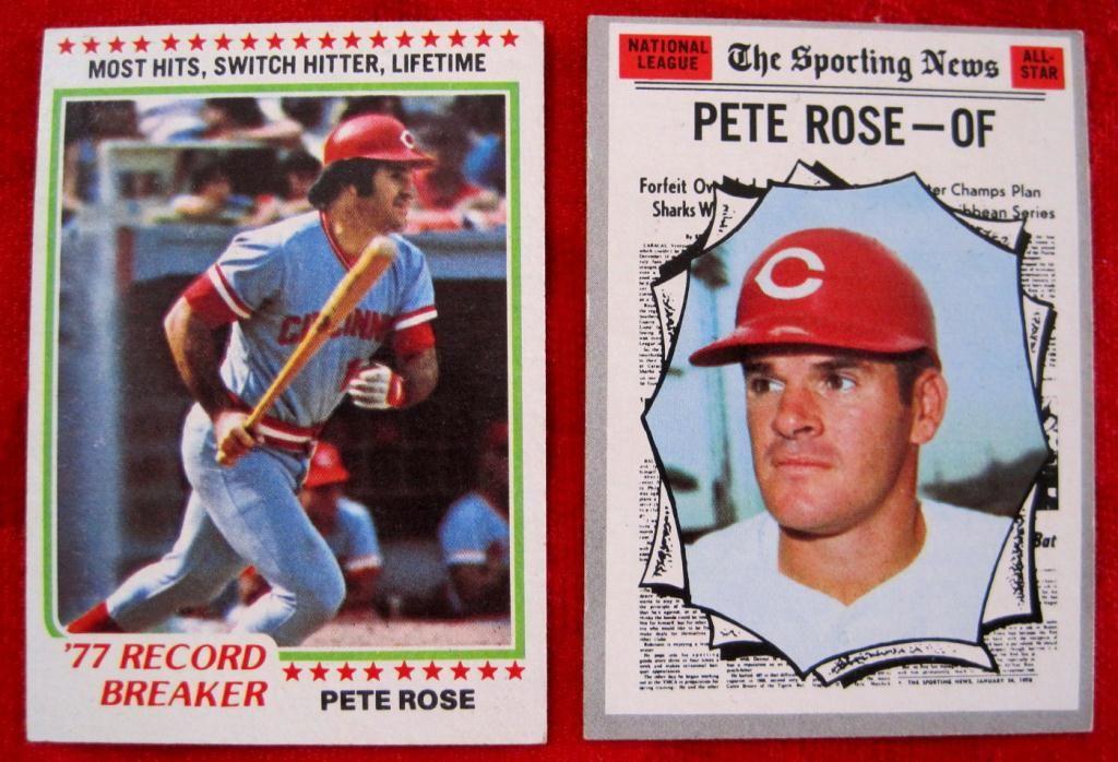1970 1978 Topps Pete Rose Baseball Cards