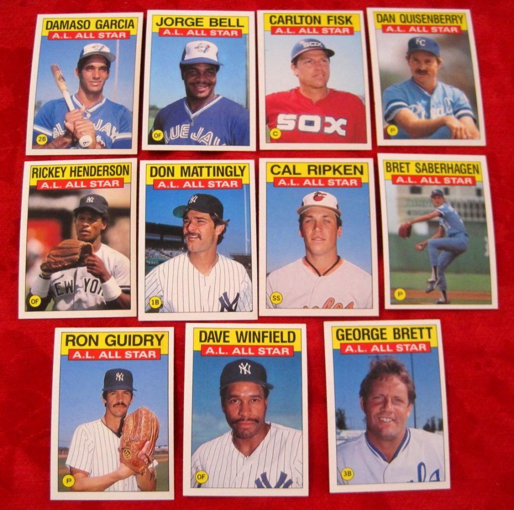 1986 Topps 712 722 Al All Star Baseball Cards