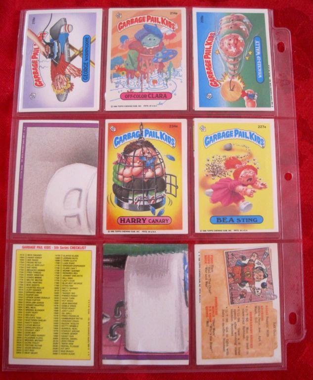 50 Different 1986 Garbage Pail Kids Sticker Cards
