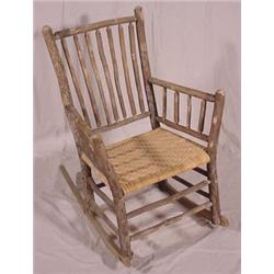 Excellent Lot 159 Adirondack Style Primitive Rocking Chair Beatyapartments Chair Design Images Beatyapartmentscom