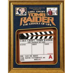 CLAPPERBOARD FROM LARA CROFT TOMB RAIDER: THE CRADLE OF LIFE