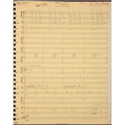 ORIGINAL MANUSCRIPT SCORE FOR WILLY WONKA & THE CHOCOLATE FACTORY WITH HANDWRITTEN DEDICATION