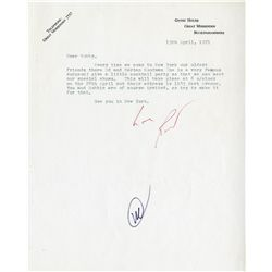 LETTERS & CORRESPONDENCE CONCERNING THE CREATION & PROMOTION OF WILLY WONKA & THE CHOCOLATE FACTORY