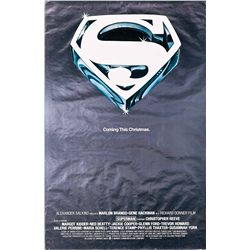 FOIL ADVANCE ONE-SHEET POSTER FOR SUPERMAN: THE MOVIE.