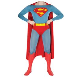 CHRISTOPHER REEVE COMPLETE HERO SUPERMAN COSTUME FROM SUPERMAN: THE MOVIE.