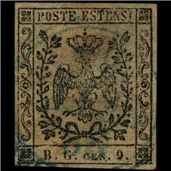 1853 Modena 9c Stamp (STM-0975)