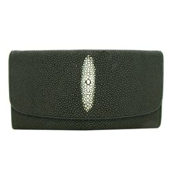 Ladies Stingray Hide Clutch Purse Wallet (ACT-330)