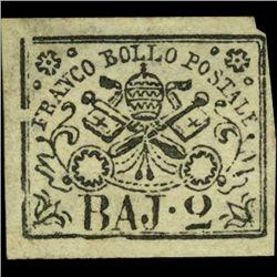 1852 Papal States 2b Stamp MINT NG (STM-1000)