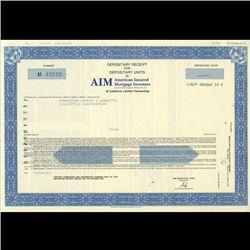 1980s Amer. Insured Mtg. Stock Certificate Scarce (COI-3455)