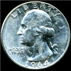 1964D Washington 25c MS65 (COI-12459)