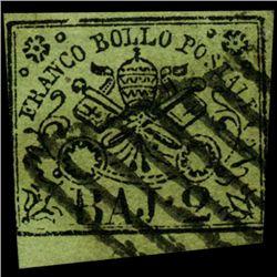 1852 Papal States 1/2b Stamp (STM-0997)