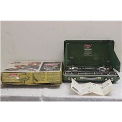 DATED 1974 COLMEN PROPANE COOK STOVE