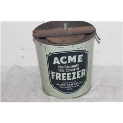 OLD ACME ICE CREAM FREEZER