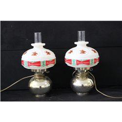 2 WALL HANGING PLASTIC BUD LIGHTS