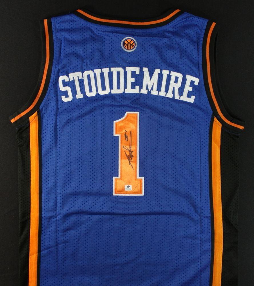 timeless design dea19 68406 Amare Stoudemire Signed Knicks Jersey (GA COA)
