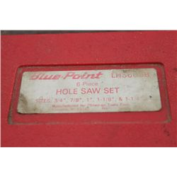 BLUEPOINT HOLE SAW SET - 4 BITS - MISSING 3/4""