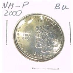 2000-p state quarter *new hampshire* *rare bu unc high grade