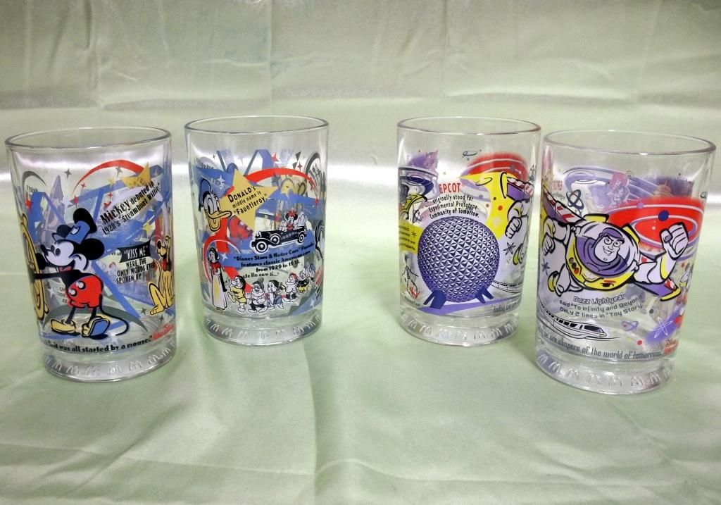 4fa37d2683 4 McDonald s 100 Years Of Magic Disney Glasses. Loading zoom