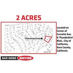 2 Acres in Kern County, CA