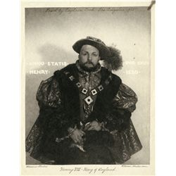 PORTRAITS OF CAPTAIN COOK AS HENRY VIII BY WILLIAM MORTENSEN