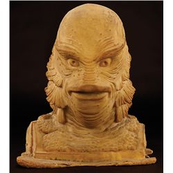 """THE CREATURE FROM THE BLACK LAGOON RUBBER BUST AND STEVE WANG MONSTER SQUAD """"GILLMAN"""" HANDS"""