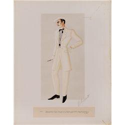 "WALTER PLUNKETT COSTUME SKETCH OF CLARK GABLE AS ""RHETT BUTLER"" IN GONE WITH THE WIND"