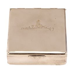 """THE CAINE MUTINY SILVER """"CREW GIFT"""" CASE, ENGRAVED TO STANLEY KRAMER"""