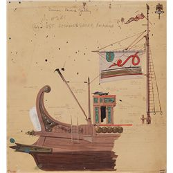 BEN HUR DETAILED GALLEON SHIP PRODUCTION ART