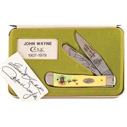 JOHN WAYNE COMMEMORATIVE POCKET KNIFE GIFTED TO CHICK IVERSON'S