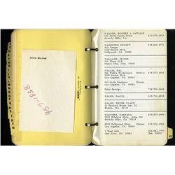 JOHN WAYNE'S PERSONAL ADDRESS BOOK.
