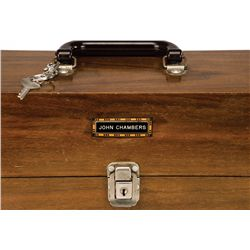 (2) JOHN CHAMBERS PERSONAL MAKEUP CASES