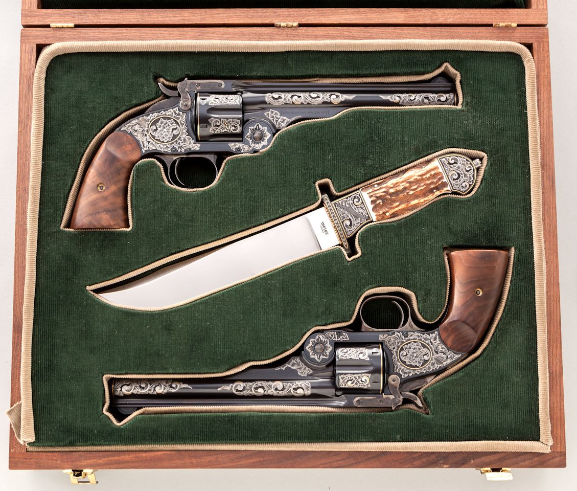 Pair Of Smith & Wesson 3rd Model Schofield Single Action