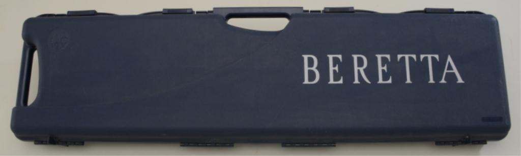 Beretta factory shotgun hard case, blue injection molded