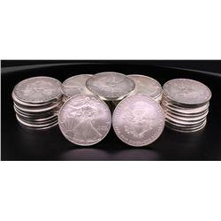 BULLION: (45) 2010 US Eagle 1 dollar silver coins; 999 AG; 1 ounce size