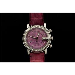 WATCH: Large st. steel Gucci 101M chronoscope wristwatch